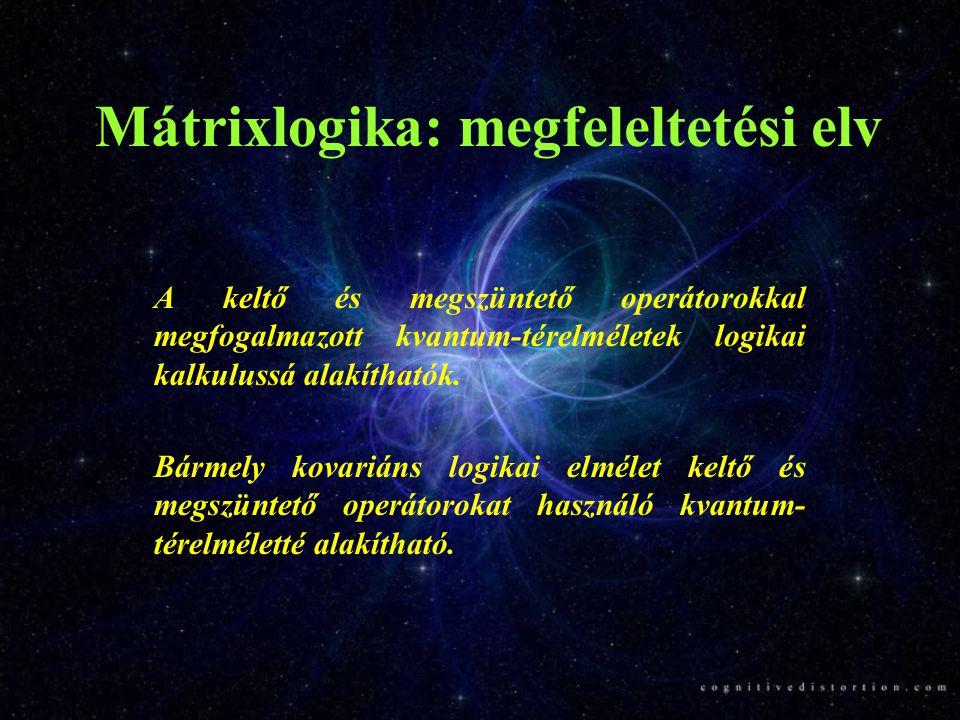 Mátrixlogika: megfeleltetési elv