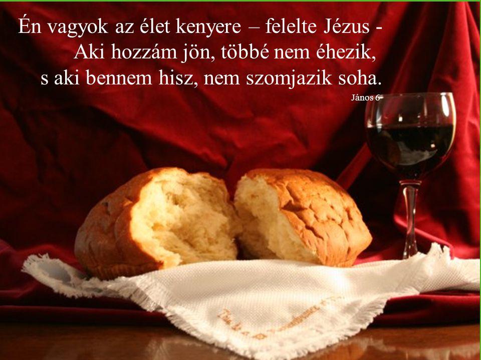 Én vagyok az élet kenyere – felelte Jézus -