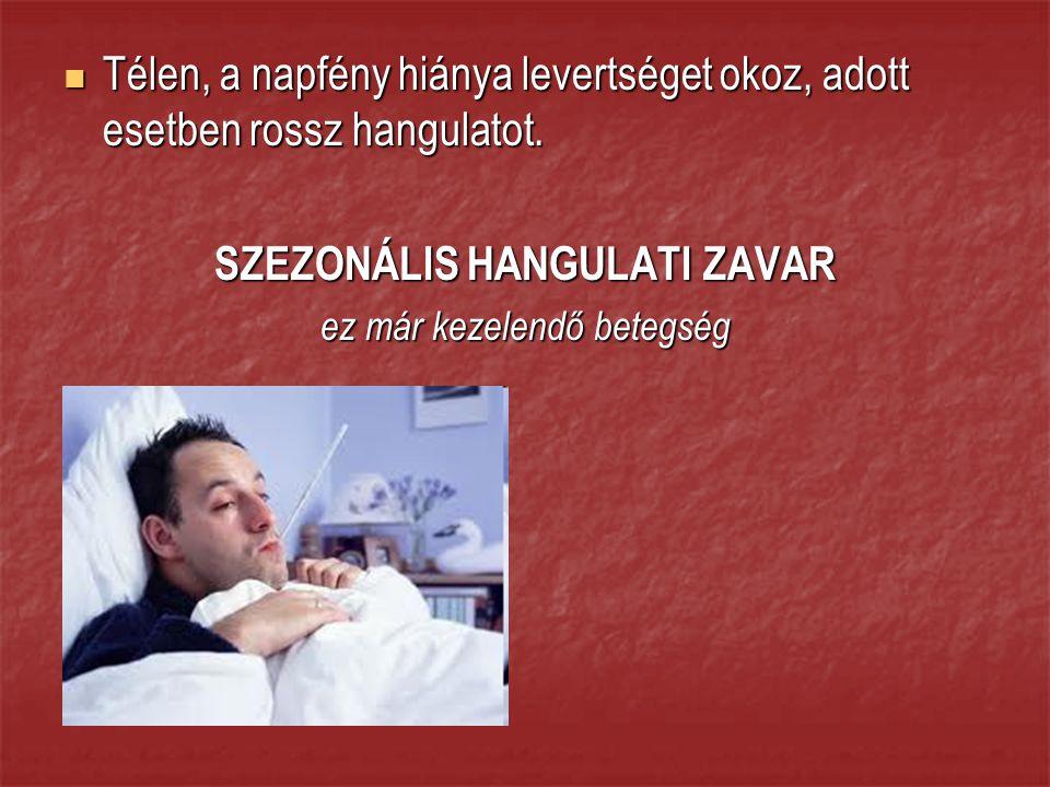 SZEZONÁLIS HANGULATI ZAVAR