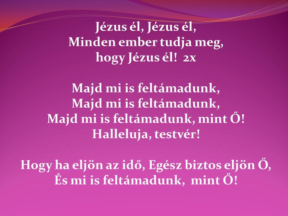 Majd mi is feltámadunk, mint Ő! Halleluja, testvér!
