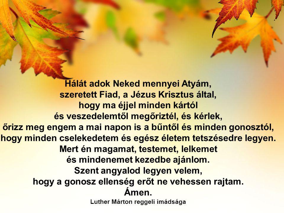 Hálát adok Neked mennyei Atyám,