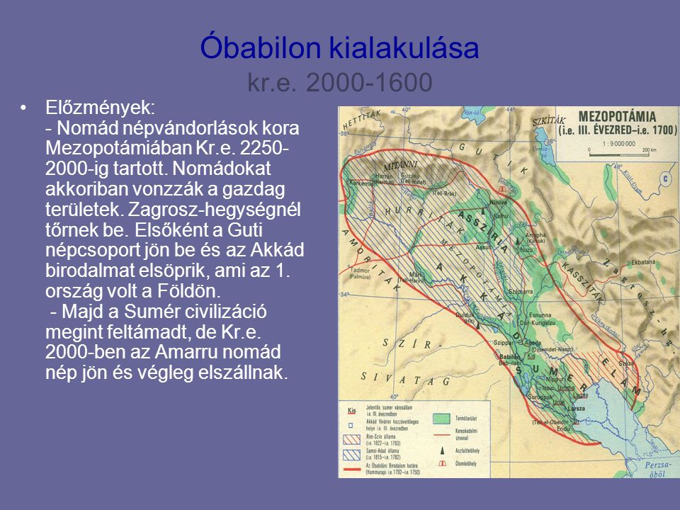 Óbabilon kialakulása kr.e. 2000-1600