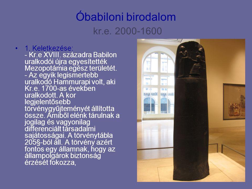 Óbabiloni birodalom kr.e. 2000-1600