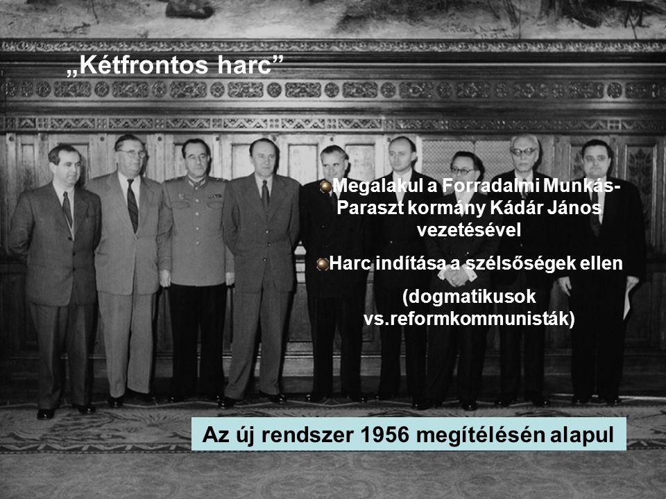 """""""Kétfrontos harc Az új rendszer 1956 megítélésén alapul"""