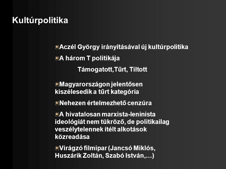 Kultúrpolitika Aczél György irányításával új kultúrpolitika