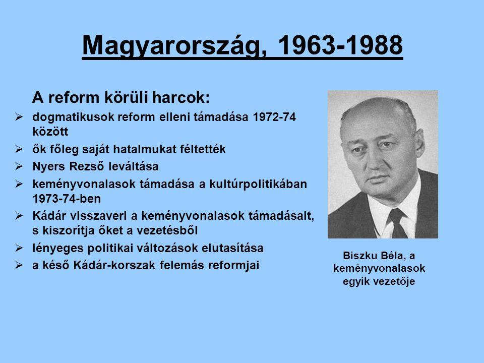 Biszku Béla, a keményvonalasok egyik vezetője