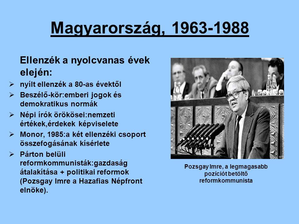 Pozsgay Imre, a legmagasabb pozíciót betöltő reformkommunista