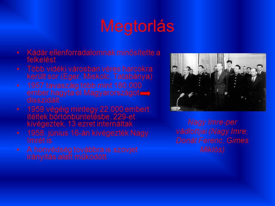 Nagy Imre-per vádlottjai (Nagy Imre, Donát Ferenc, Gimes Miklós)
