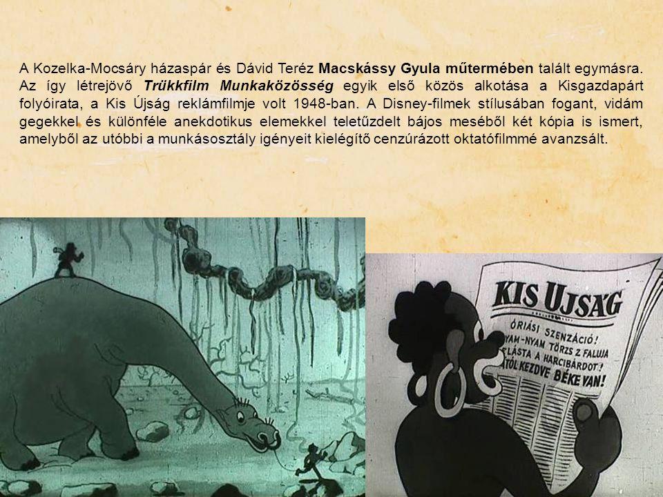 A Kozelka-Mocsáry házaspár és Dávid Teréz Macskássy Gyula műtermében talált egymásra.