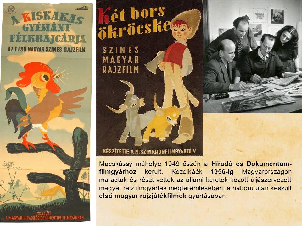 Macskássy műhelye 1949 őszén a Híradó és Dokumentum-filmgyárhoz került