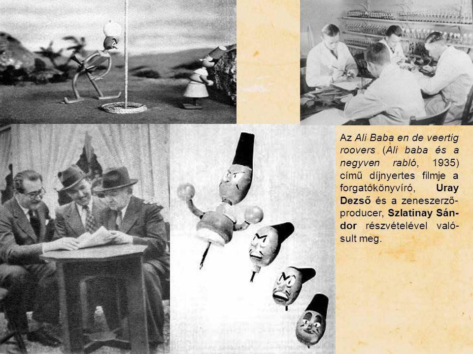 Az Ali Baba en de veertig roovers (Ali baba és a negyven rabló, 1935) című díjnyertes filmje a forgatókönyvíró, Uray Dezső és a zeneszerző-producer, Szlatinay Sán-dor részvételével való-sult meg.
