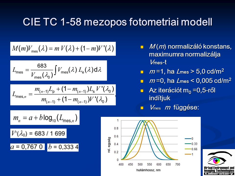 CIE TC 1-58 mezopos fotometriai modell