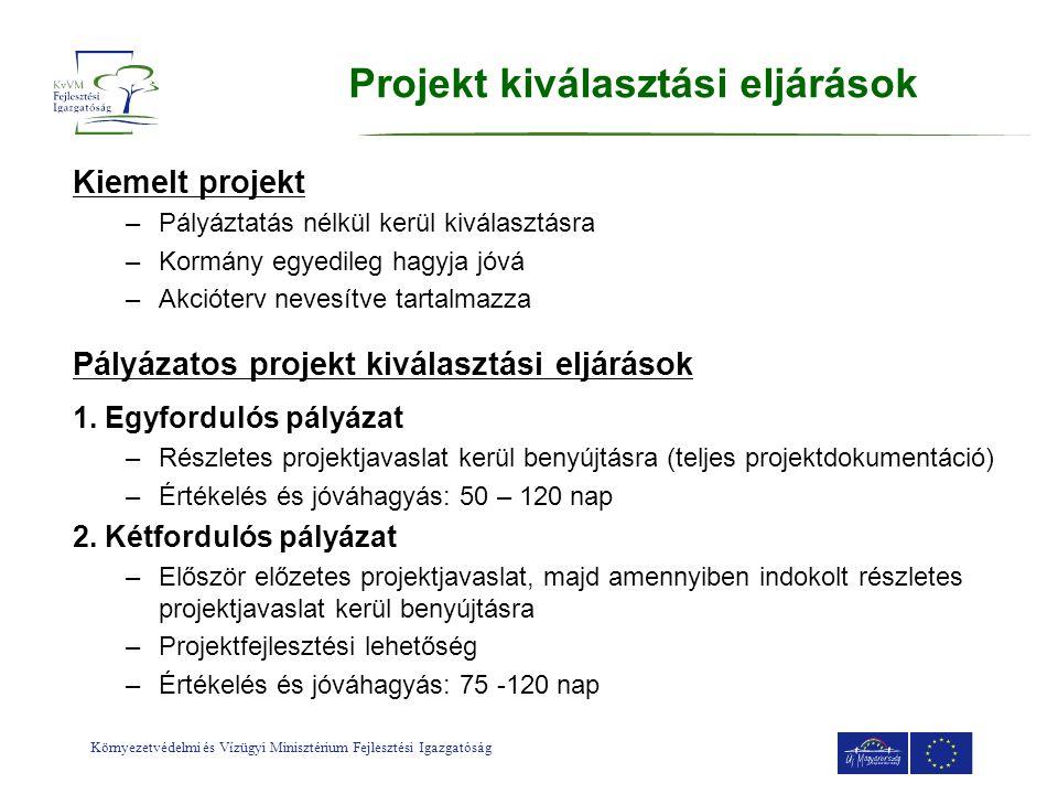 Projekt kiválasztási eljárások