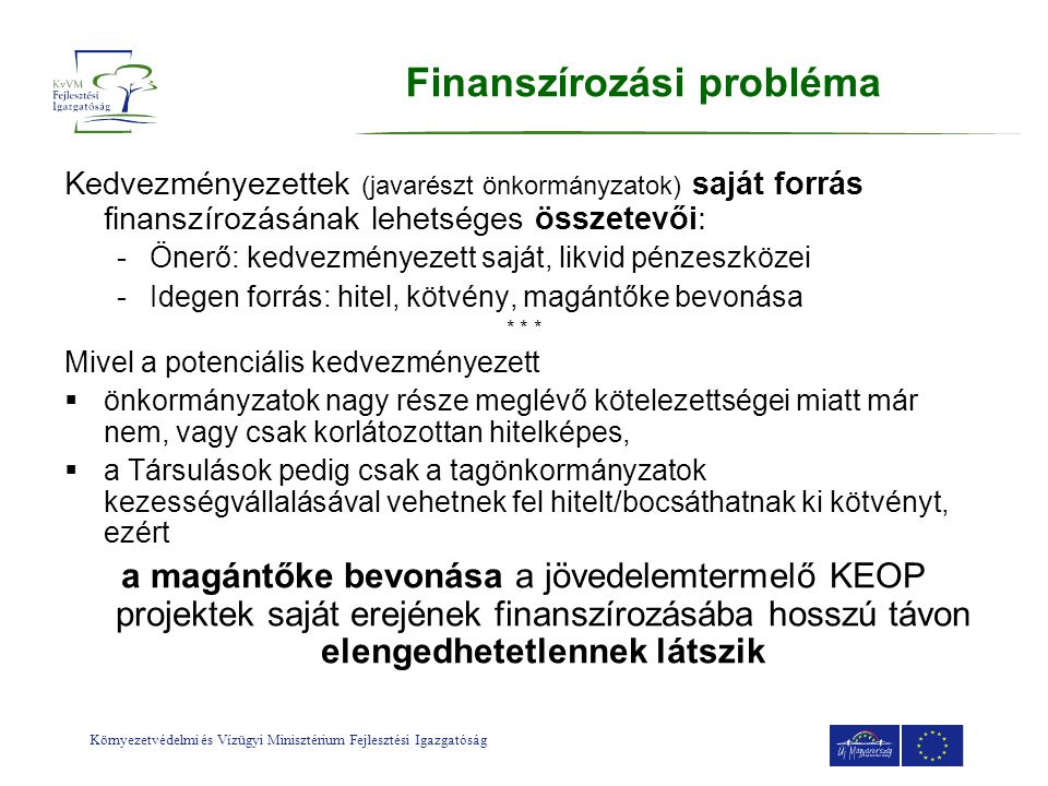 Finanszírozási probléma