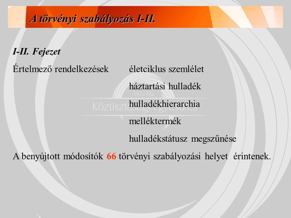 A törvényi szabályozás I-II.