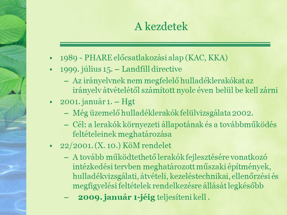 A kezdetek 1989 - PHARE előcsatlakozási alap (KAC, KKA)