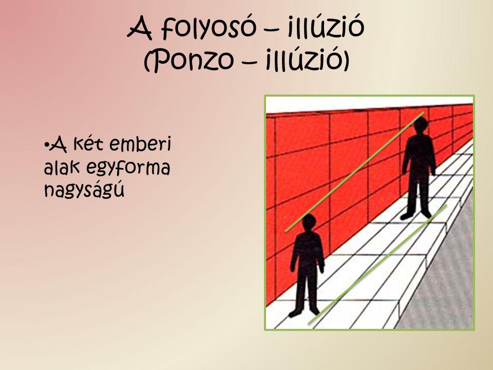 A folyosó – illúzió (Ponzo – illúzió)