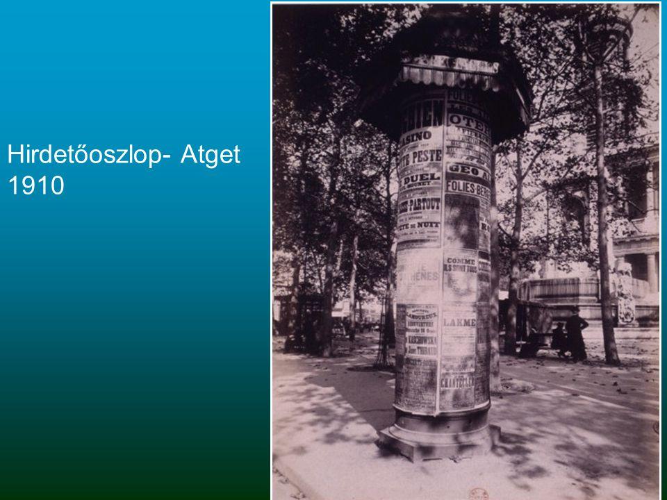 Hirdetőoszlop- Atget 1910