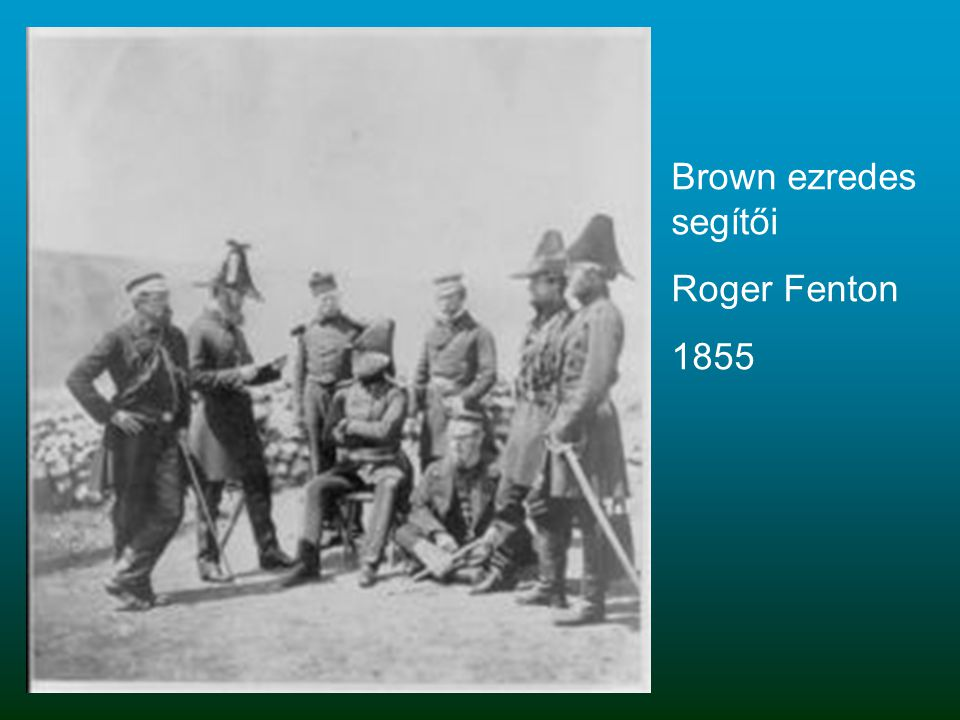 Brown ezredes segítői Roger Fenton 1855