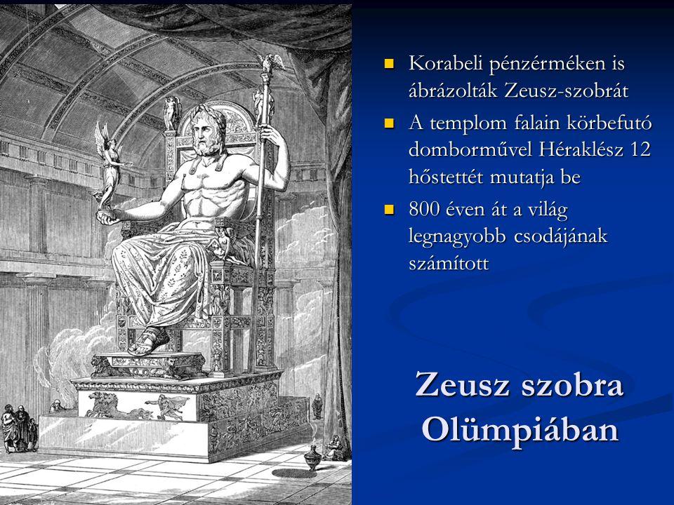 Zeusz szobra Olümpiában