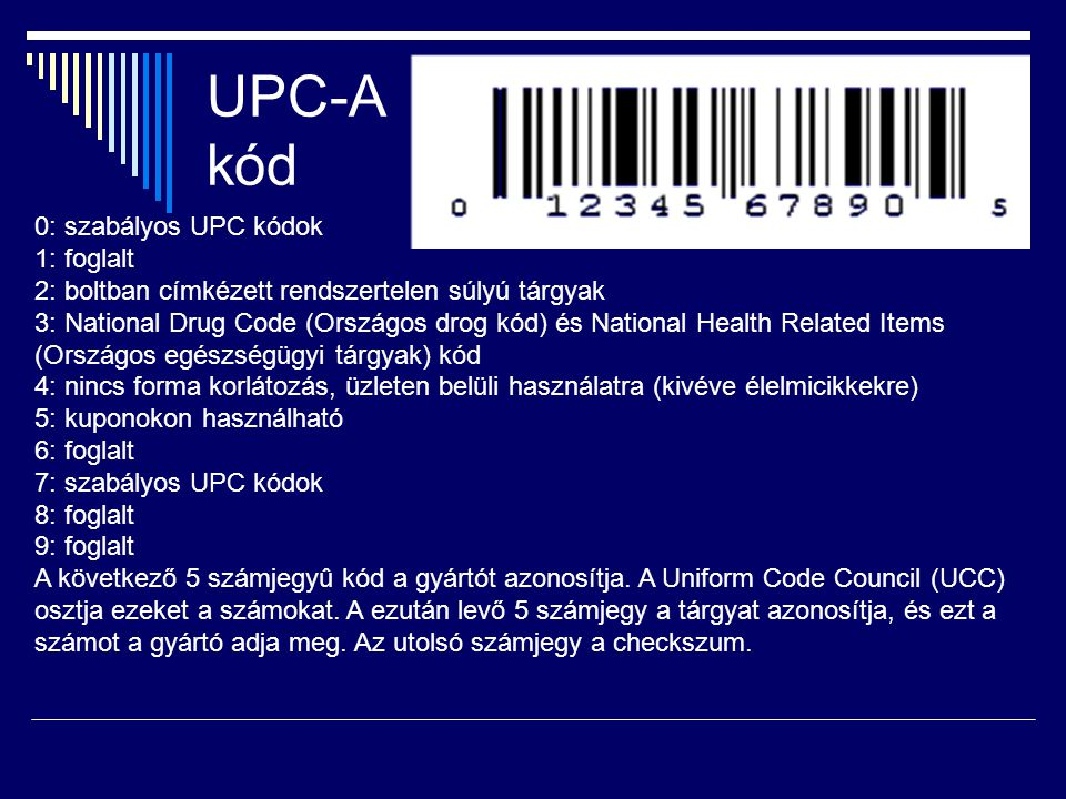 UPC-A kód
