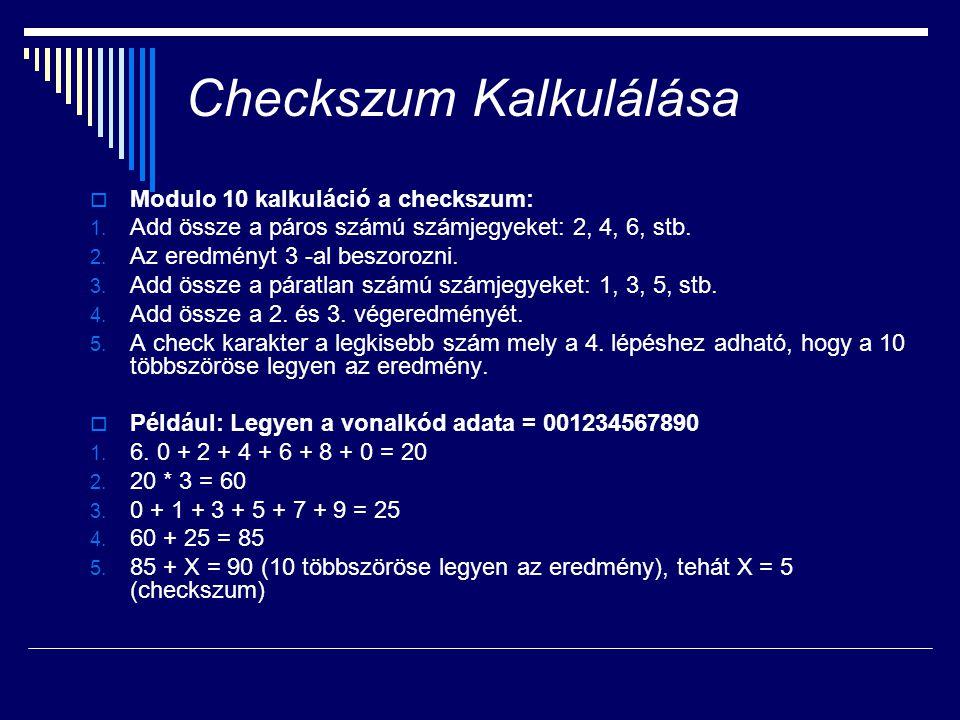 Checkszum Kalkulálása
