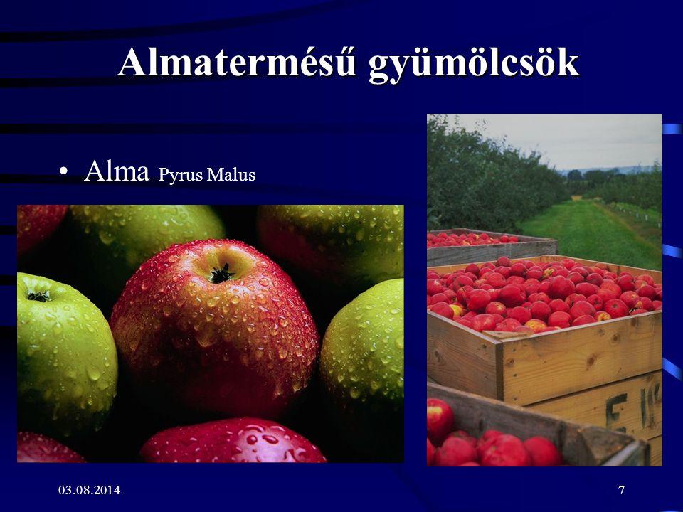 Almatermésű gyümölcsök