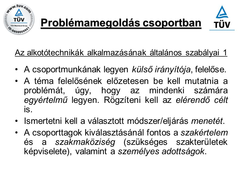 Problémamegoldás csoportban