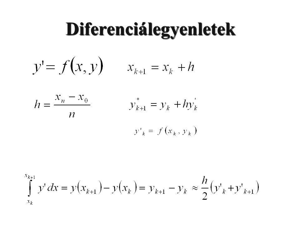 Diferenciálegyenletek