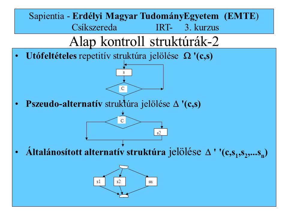 Alap kontroll struktúrák-2