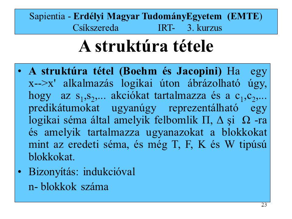 Sapientia - Erdélyi Magyar TudományEgyetem (EMTE) Csíkszereda. IRT-. 3