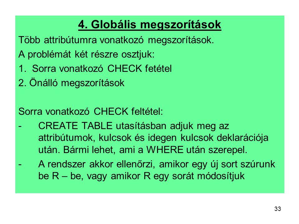 4. Globális megszorítások
