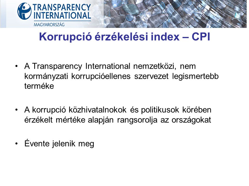 Korrupció érzékelési index – CPI