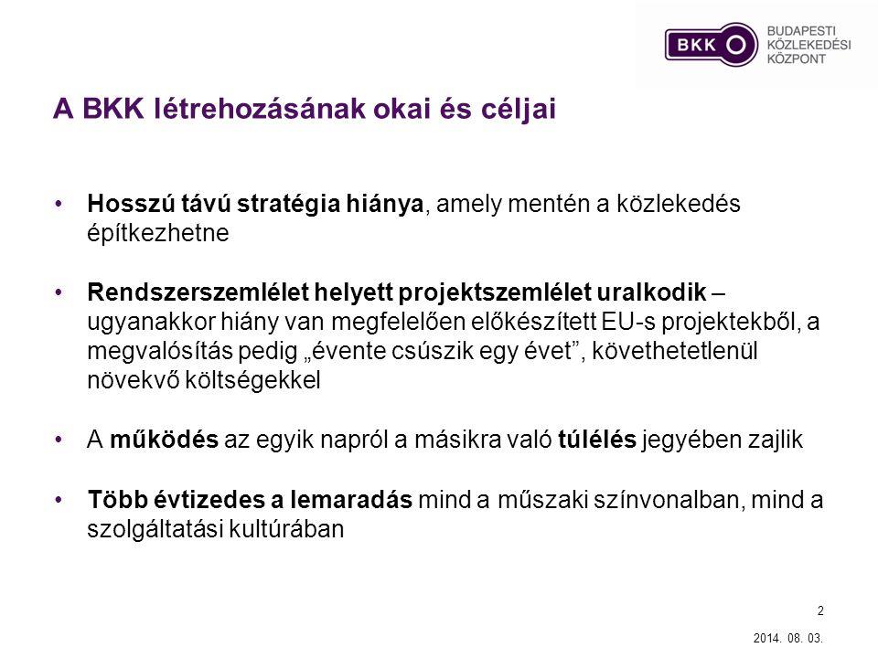 A BKK létrehozásának okai és céljai
