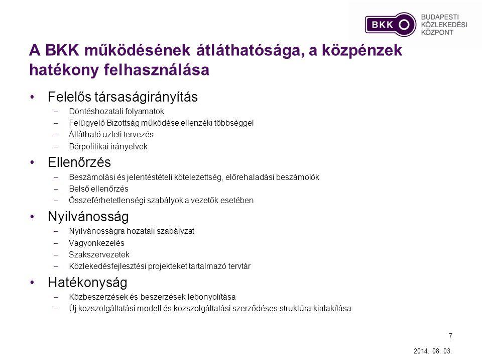 A BKK működésének átláthatósága, a közpénzek hatékony felhasználása