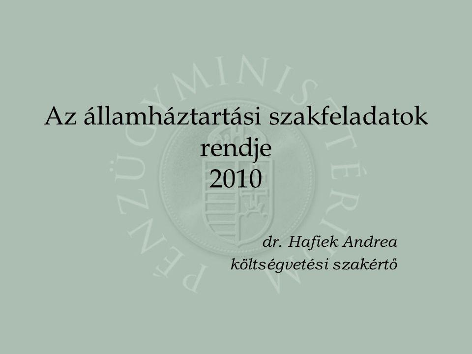 Az államháztartási szakfeladatok rendje 2010