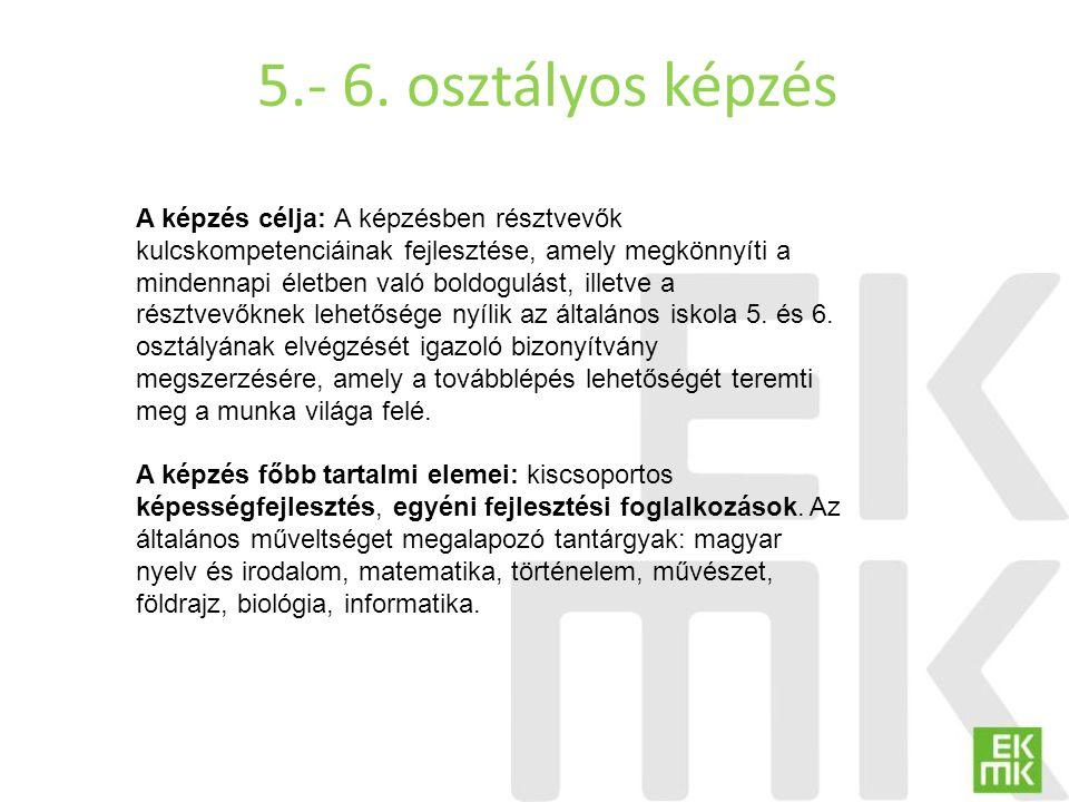 5.- 6. osztályos képzés