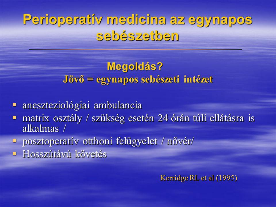 Perioperatív medicina az egynapos sebészetben