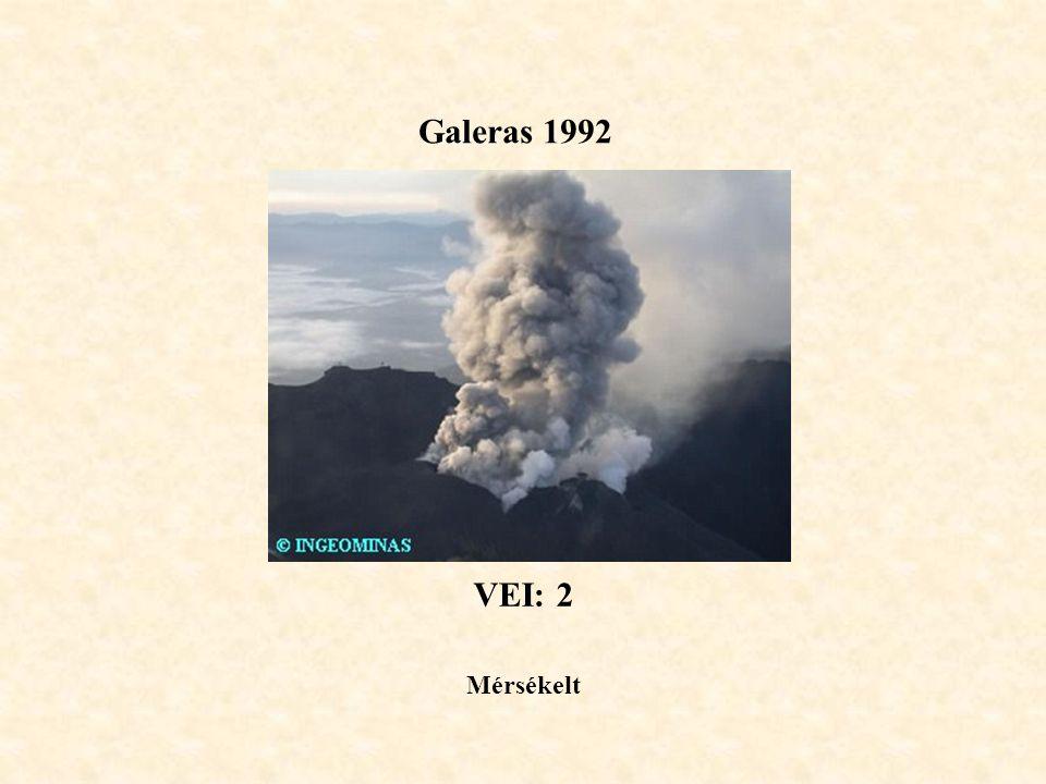 Galeras 1992 VEI: 2 Mérsékelt