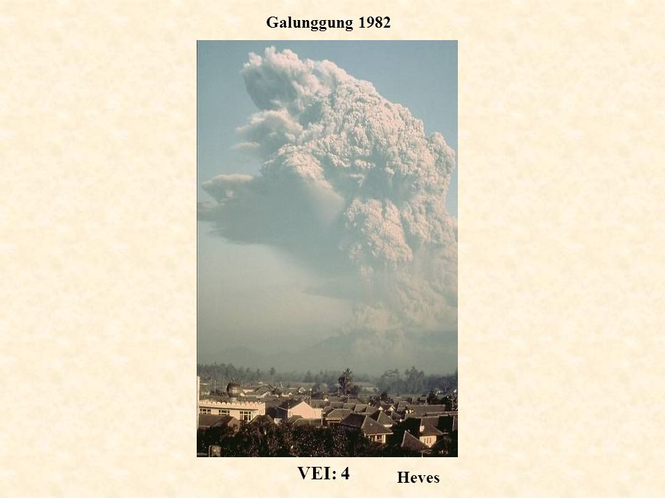 Galunggung 1982 VEI: 4 Heves