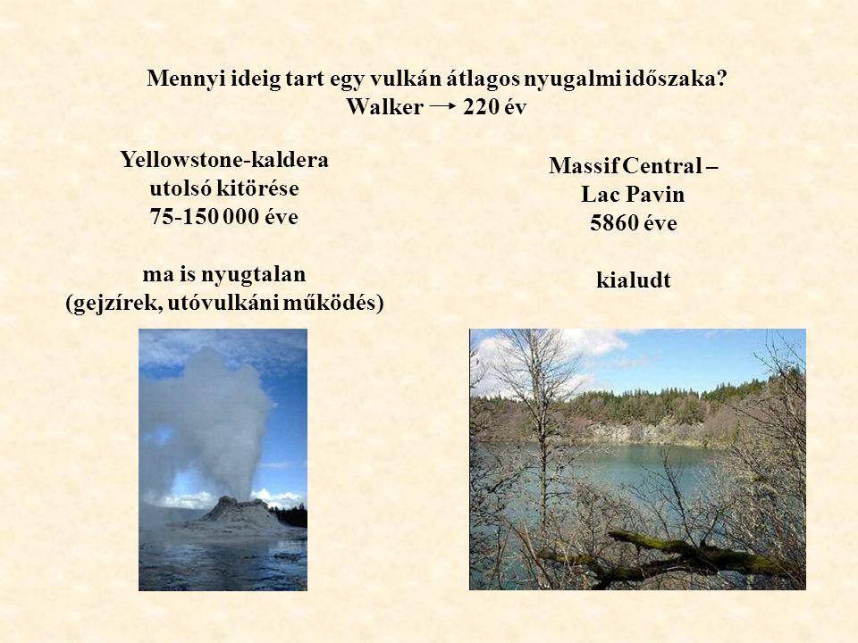 Mennyi ideig tart egy vulkán átlagos nyugalmi időszaka Walker 220 év
