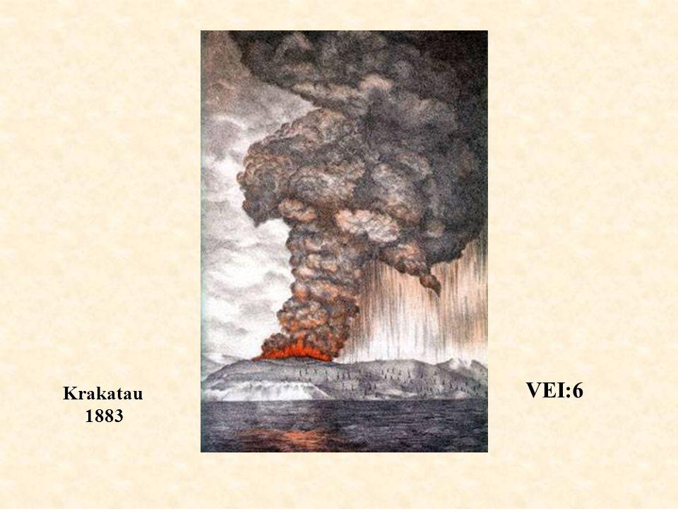 VEI:6 Krakatau 1883