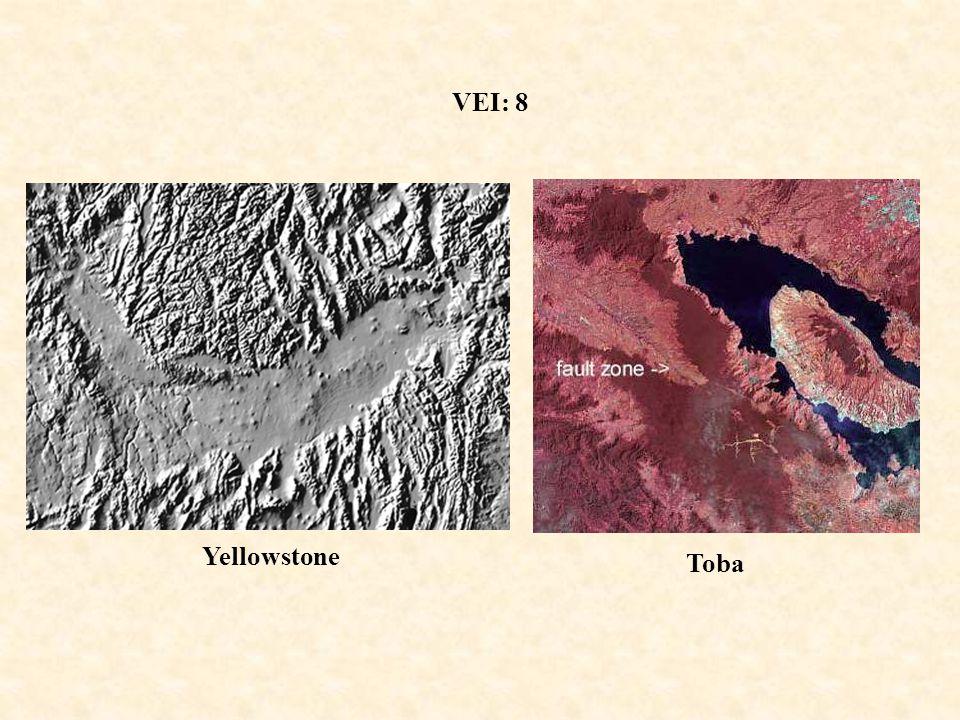 VEI: 8 Yellowstone Toba
