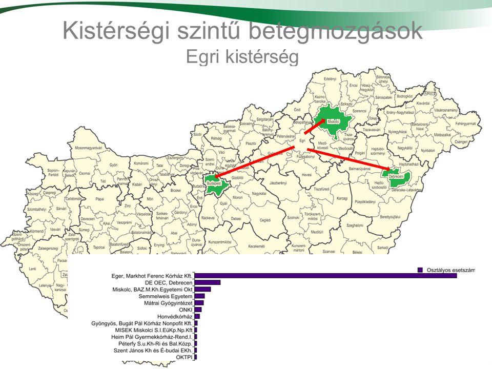 Kistérségi szintű betegmozgások Egri kistérség