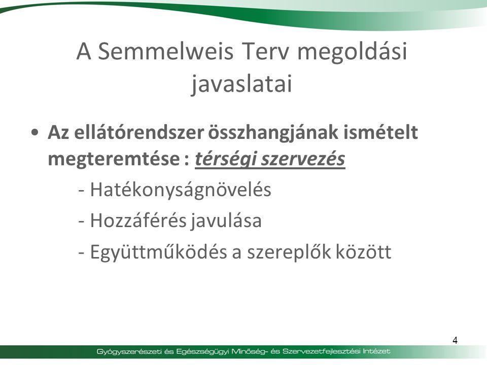 A Semmelweis Terv megoldási javaslatai