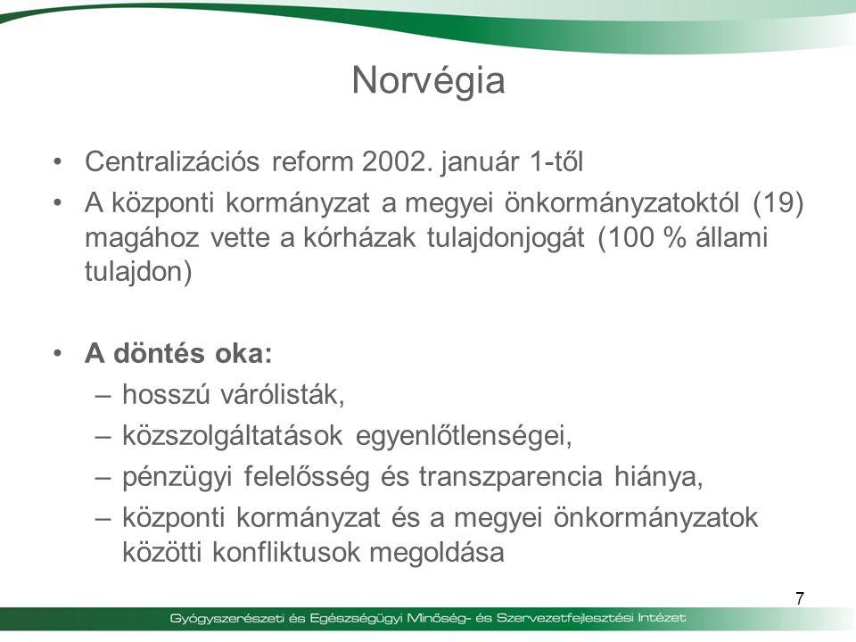 Norvégia Centralizációs reform 2002. január 1-től