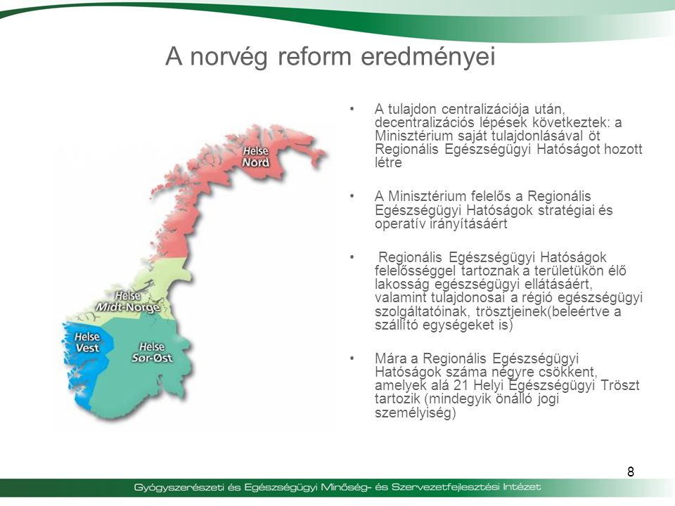 A norvég reform eredményei