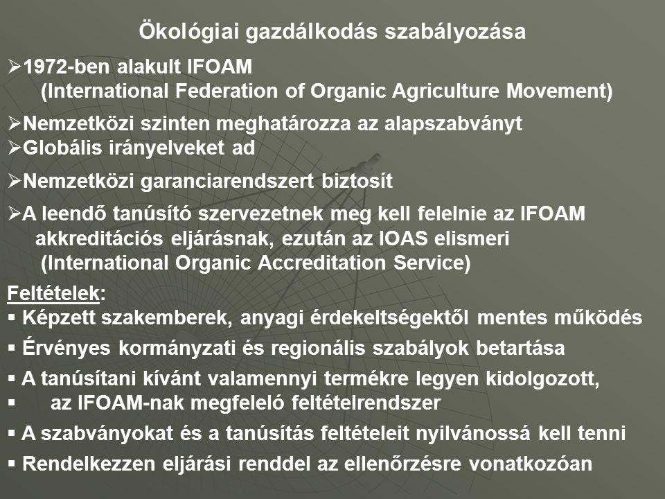 Ökológiai gazdálkodás szabályozása