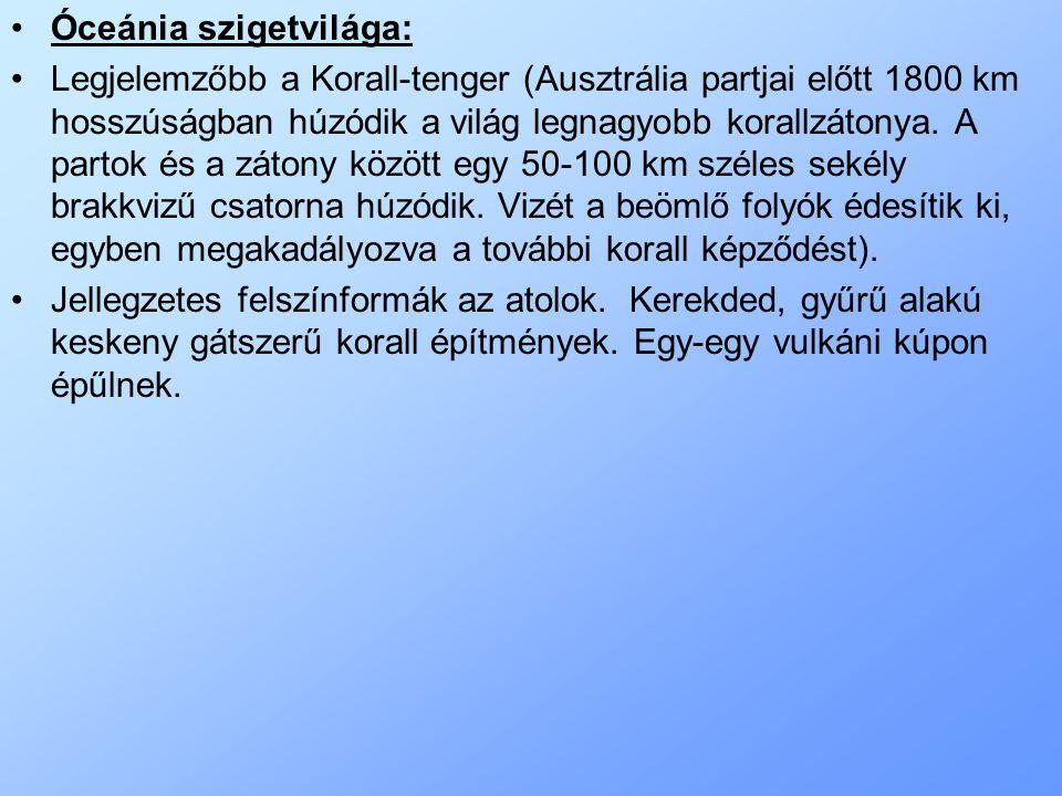 Óceánia szigetvilága: