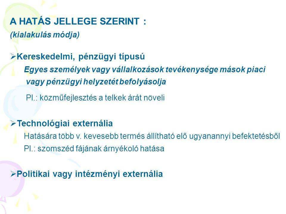 A HATÁS JELLEGE SZERINT :
